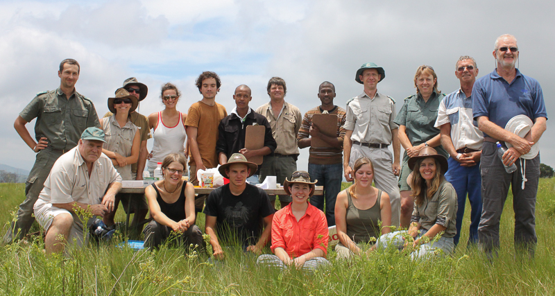 Field work team @ Oribi Gorge, 2013.